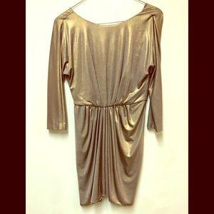 Gold Tibi cocktail dress